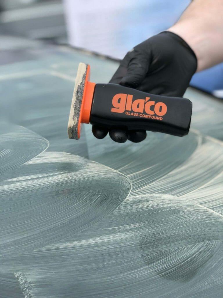 Glaco Glass compound i brug