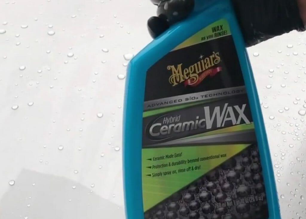 Meguiars Hybrid Ceramic Wax og vandperler